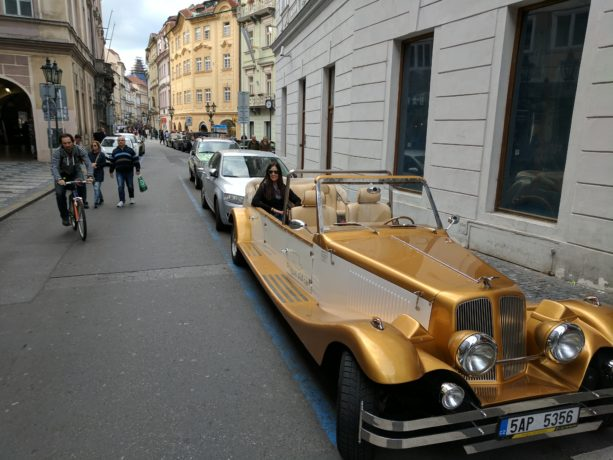 A stunning retro vehicle tour in Prague